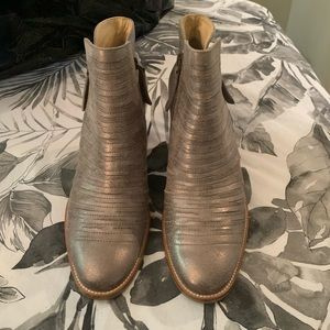 Silver Ankle Boots